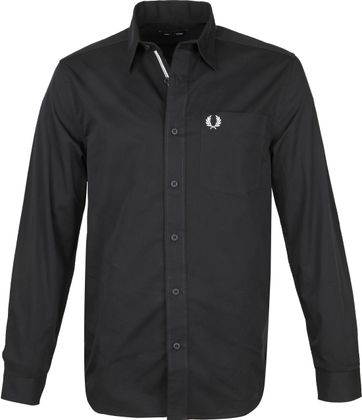 Fred Perry Classic Hemd Schwarz