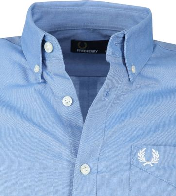 Fred Perry Classic Overhemd Blauw