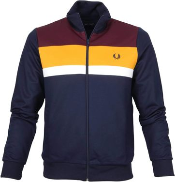 Fred Perry Colourblock Jacket Navy