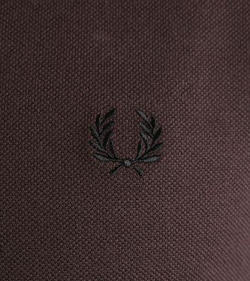 Detail Fred Perry Longsleeve Polo Bruin E84