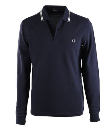 Fred Perry Longsleeve Polo Donkerblauw 226