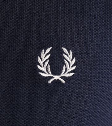 Detail Fred Perry Longsleeve Polo Donkerblauw 226