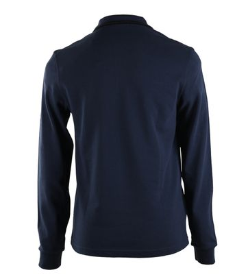 Detail Fred Perry Longsleeve Polo Donkerblauw E85
