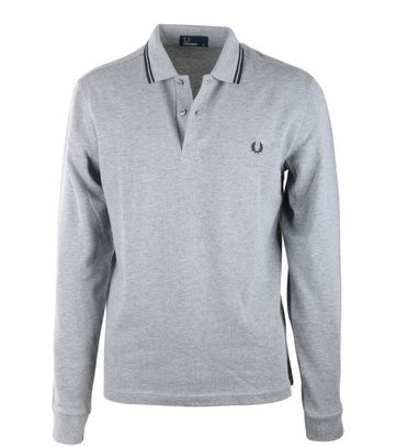 Fred Perry Longsleeve Polo Grijs 203
