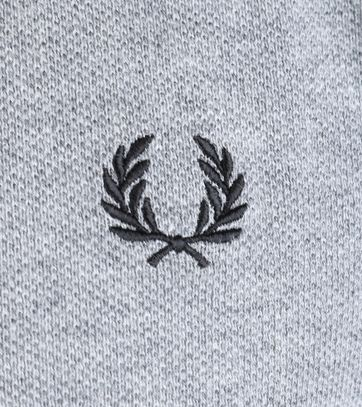 Detail Fred Perry Longsleeve Polo Grijs 203
