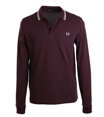 Fred Perry Longsleeve Polo Paars