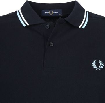 Fred Perry LS Polo Navy