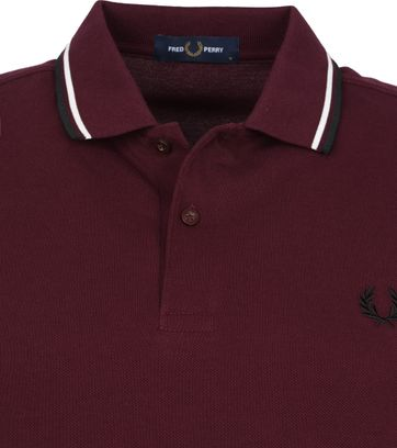 Fred Perry LS Polo Shirt Bordeaux M3636