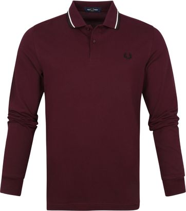 Fred Perry LS Poloshirt Bordeaux M3636