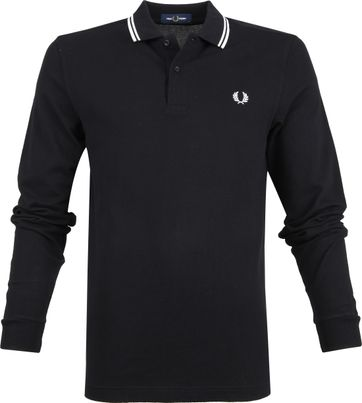 Fred Perry LS Poloshirt Schwarz 102