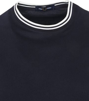 Fred Perry M1588 Twin Tipped T Shirt Navy