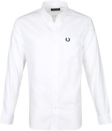Fred Perry Oxford Hemd Weiß