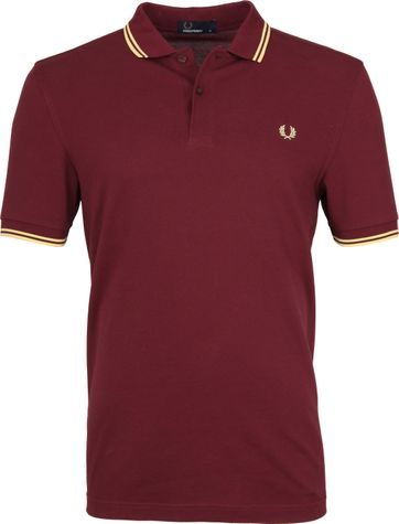 Fred Perry Polo Bordeaux 472