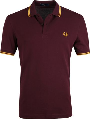 Fred Perry Polo Bordeaux J29