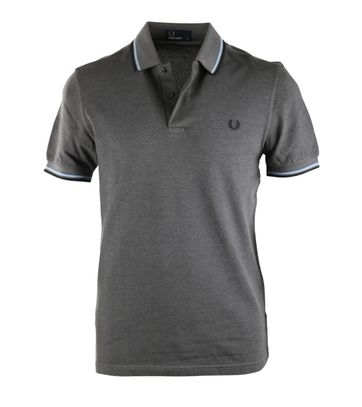 Fred Perry Polo Donkergrijs E81