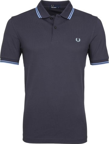 Fred Perry Polo Grijs Blauw C12