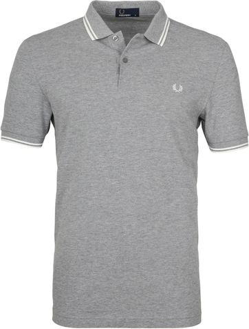 Fred Perry Polo Grijs H38