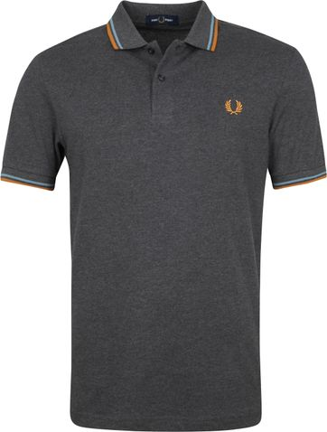 Fred Perry Polo Grijs M3600