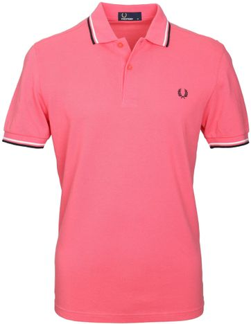 Fred Perry Polo Korall Rosa 489