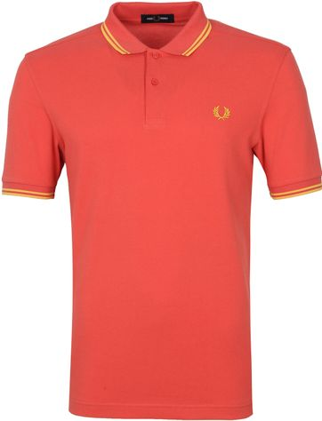 Fred Perry Polo M3600 Zomer Rood