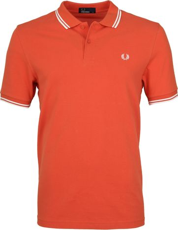 Fred Perry Polo Oranje G93