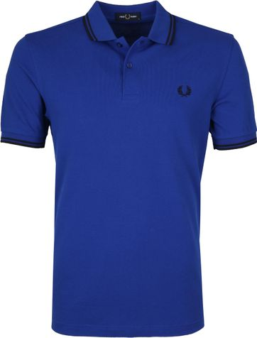 Fred Perry Polo Shirt Blue L44