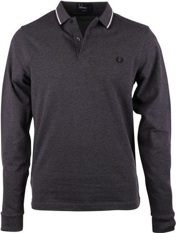 Fred Perry Polo Shirt Longsleeve Dark Grey