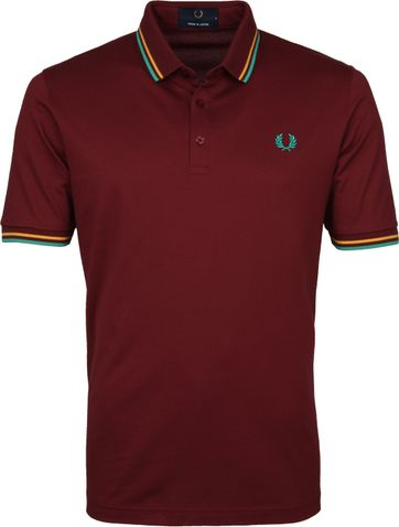 Fred Perry Polo Shirt M102 Burgundy