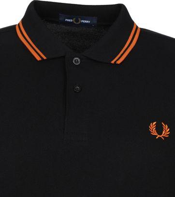 Fred Perry Polo Shirt M3600 Black Orange