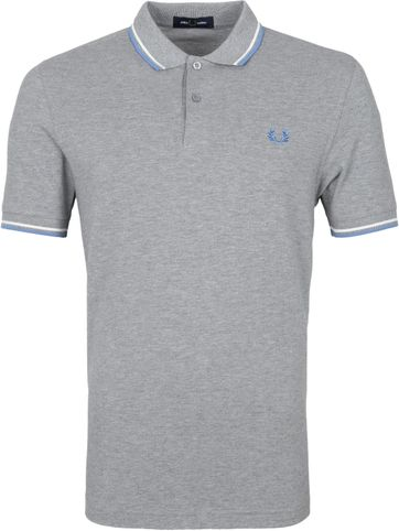 Fred Perry Polo Shirt M3600 Light Grey