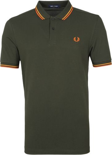 Fred Perry Polo Shirt M3600 M85 Dunkelgrün