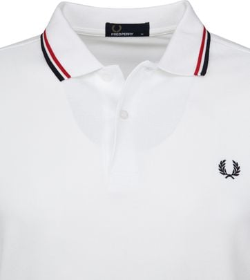 Fred Perry Polo White 748