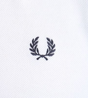 Detail Fred Perry Polo Wit 748