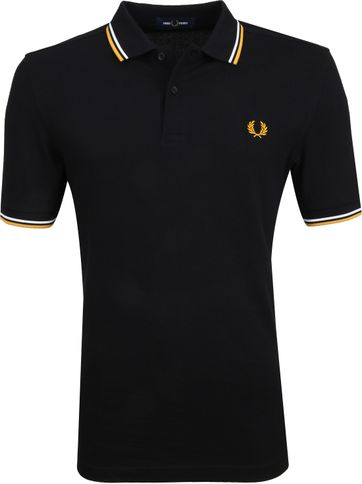 Fred Perry Polo Zwart Goud