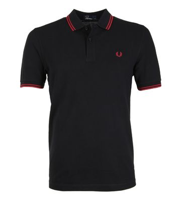 Fred Perry Poloshirt Black Claret
