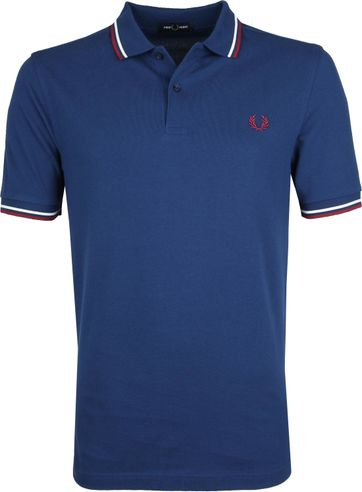Fred Perry Poloshirt Blau 588