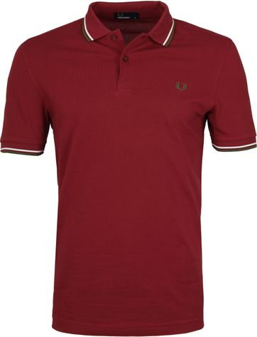 Fred Perry Poloshirt Bordeaux 106