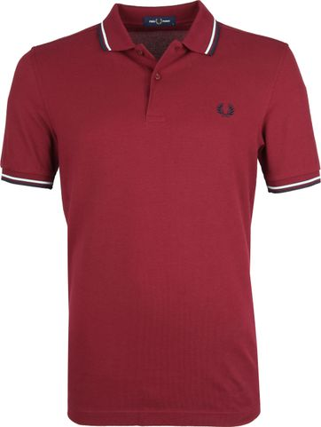 Fred Perry Poloshirt Bordeaux K88