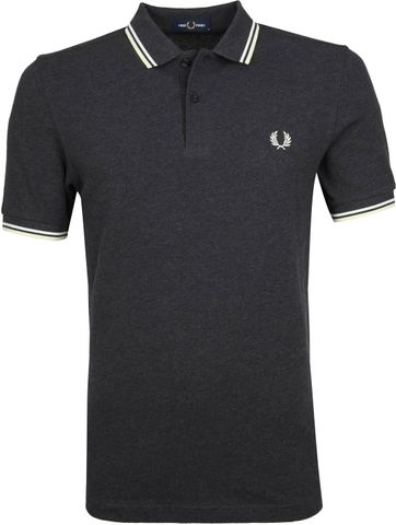 Fred Perry Poloshirt Dark Grey 328