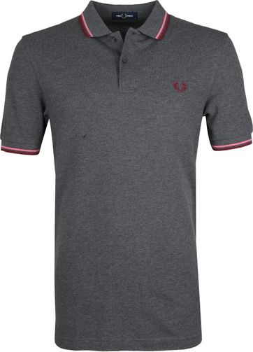 Fred Perry Poloshirt Dark Grey L02