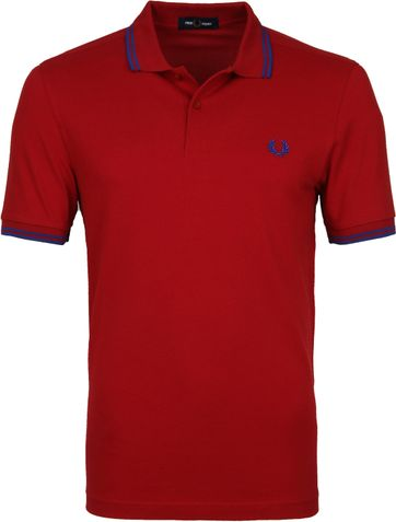 Fred Perry Poloshirt Deep Red