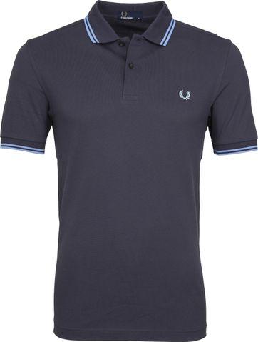 Fred Perry Poloshirt Dunkelgrau Blau C12
