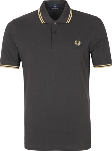 Fred Perry Poloshirt M12 Anthracite