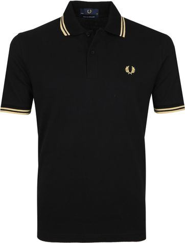 Fred Perry Poloshirt M12 Black