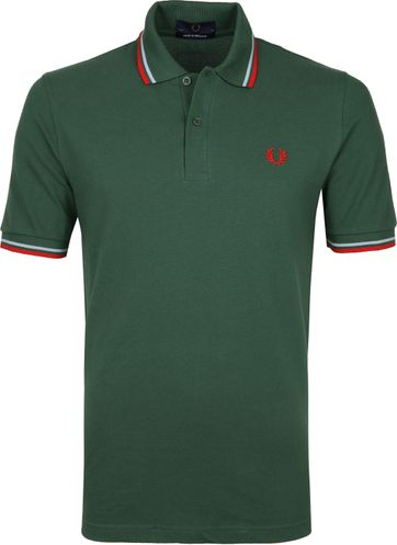 Fred Perry Poloshirt M12 Dark Green