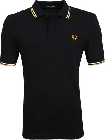 Fred Perry Poloshirt Schwarz Gold