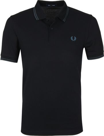 Fred Perry Poloshirt Schwarz L55