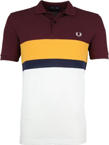 Fred Perry Poloshirt Stripes Mahogany