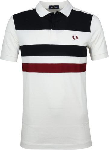 Fred Perry Poloshirt Stripes White