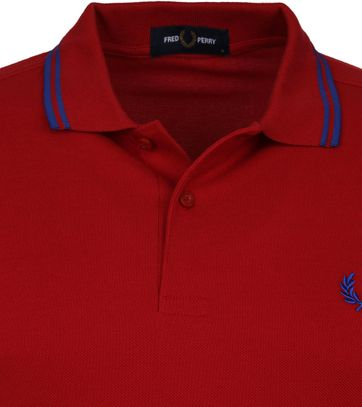 Fred Perry Poloshirt Tiefrot